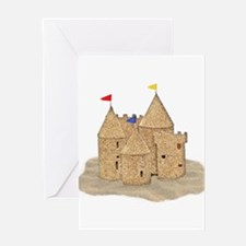 Imaginary Beach Sandcastle Greeting Cards