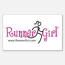 Runner Girl Rectangle Sticker PBU