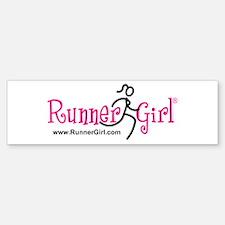 Runner Girl Bumper Sticker PBU