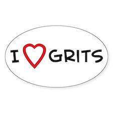 Cute I love grits Decal