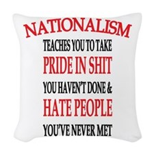 Nationalism Truth Woven Throw Pillow