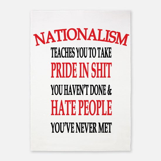 Nationalism Truth 5'x7'Area Rug