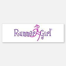Runner Girl Bumper Sticker PPN