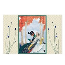 Unique Man and woman in park Postcards (Package of 8)