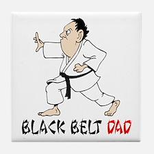 Black Belt Dad Tile Coaster