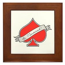 Spade & Neutered (red) Framed Tile