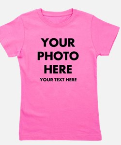 Customize Photo And Text Girl's Tee