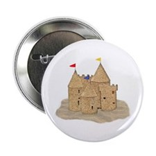 "Cute Sandcastle 2.25"" Button"