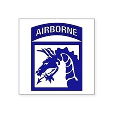 "Unique 82nd airborne division Square Sticker 3"" x 3"""