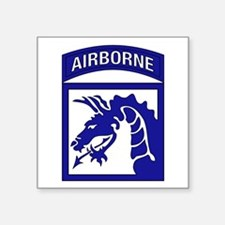 "Cute 18th airborne corps Square Sticker 3"" x 3"""