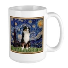 Starry Night and Australian Shepherd Mug