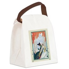 Cool Man and woman in park Canvas Lunch Bag