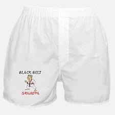 Black Belt Grandpa Boxer Shorts