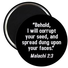 Malachi 2:3 Magnet