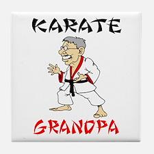 Karate Grandpa Tile Coaster