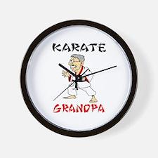 Karate Grandpa Wall Clock