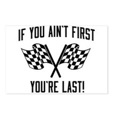 If you ain't first you're last Postcards (Package