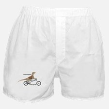 Velociraptor on Bike Boxer Shorts