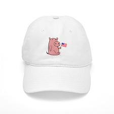 PATRIOTIC PINK PIG Baseball Cap