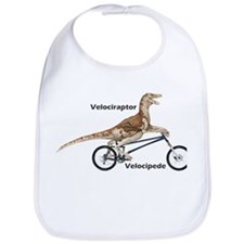 Velociraptor on Bike Bib