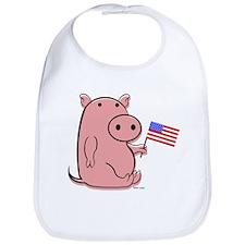 PATRIOTIC PINK PIG Bib