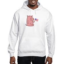 PATRIOTIC PINK PIG Hoodie