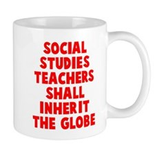 Social Studies Teachers Globe Mug