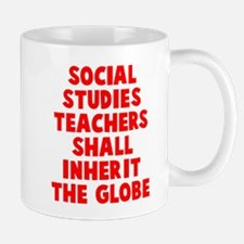 Social Studies Teachers Globe Mug