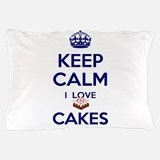 I Love Cakes Pillow Case