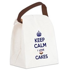 I Love Cakes Canvas Lunch Bag