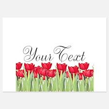 Personalizable Red Tulips Invitations