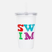 SWIM letters Acrylic Double-wall Tumbler