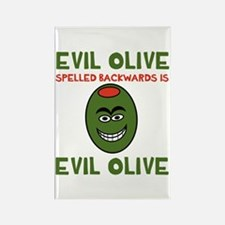 Evil Olive Palindrome Rectangle Magnet