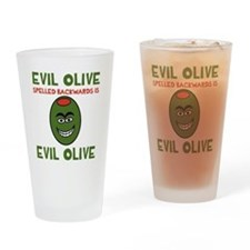 Evil Olive Palindrome Drinking Glass