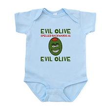 Evil Olive Palindrome Infant Bodysuit