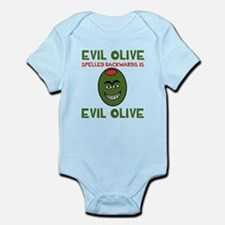 Evil Olive Palindrome Infant Bodysuit