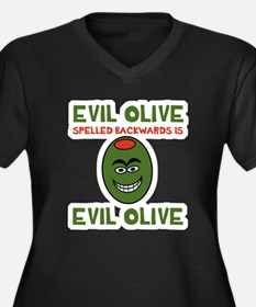 Evil Olive P Women's Plus Size V-Neck Dark T-Shirt