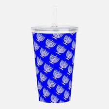 Blue Menorahs for a Hanukkah Mensch Acrylic Double