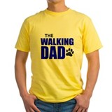 Dog father Mens Classic Yellow T-Shirts