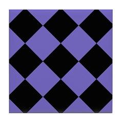 Colorful Checkerboard Tile Coaster