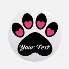 Personalizable Paw Print Ornament (Round)