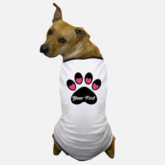 Personalizable Paw Print Dog T-Shirt