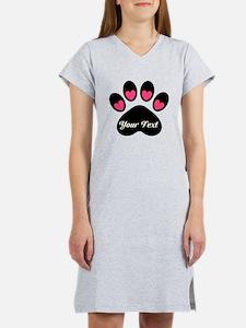 Personalizable Paw Print Women's Nightshirt