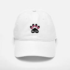 Personalizable Paw Print Baseball Baseball Baseball Cap