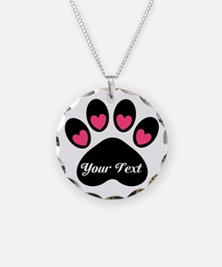 Personalizable Paw Print Necklace