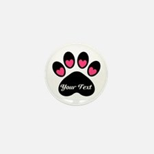 Personalizable Paw Print Mini Button (10 pack)