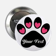 "Personalizable Paw Print 2.25"" Button"