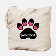 Personalizable Paw Print Tote Bag