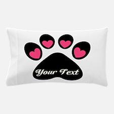Personalizable Paw Print Pillow Case