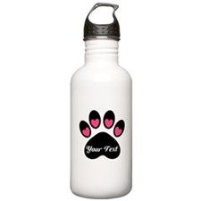 Personalizable Paw Print Water Bottle
